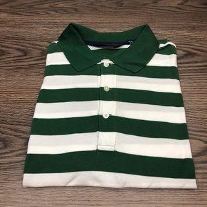 Polo Ralph Lauren Green White Stripe Polo Shirt L